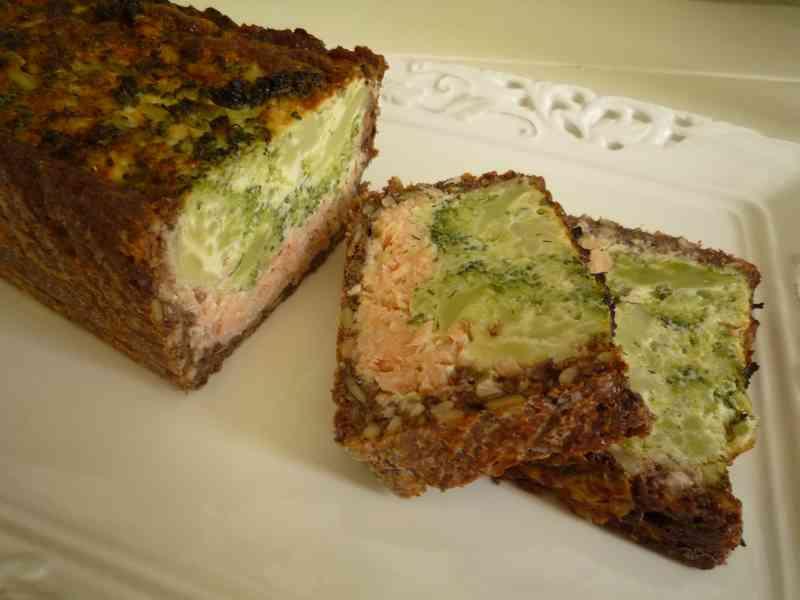 Zalm broccoli taart met Noets