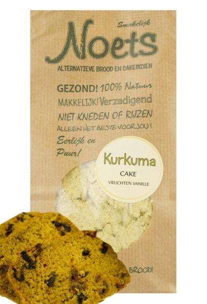 Kurkuma cake van Noets in de smaak: vruchten vanille.