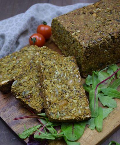 Gebakken brood van Noets Goreng koolhydraatarme Vezelbroodmix