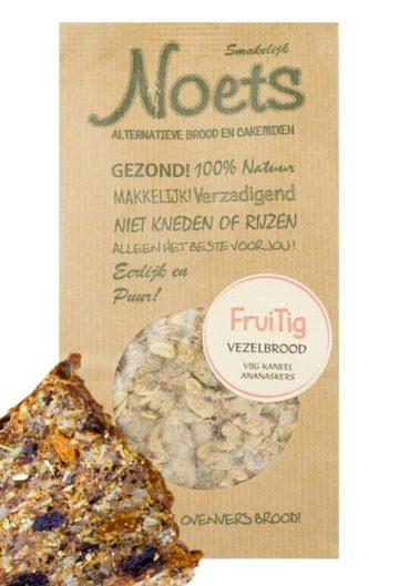 Fruitig koolhydraatarme Vezelbroodmix